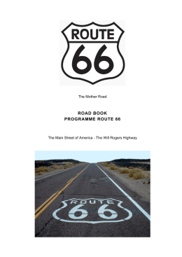 road book programme route 66 - Over-blog
