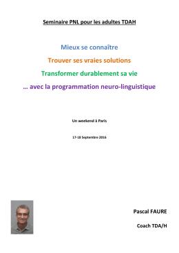 avec la programmation neuro-linguistique - TDAH