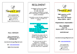 REGLEMENT - Tennis Marc Berger