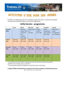Grille horaire - programme