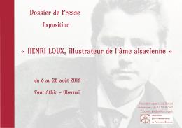 dossierpresse Henri LOUX