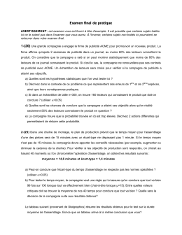 Examen final de pratique - Questionnaires d`examens