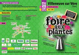 Programme Foire aux plantes