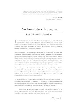 Au bord du silence, vol.3