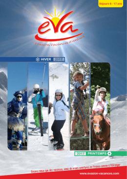 printemps 2017 - Evasion Vacances Aventure