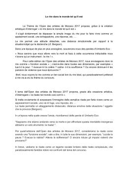 Communiqué de presse / Press release / Comunicato stampa