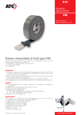Rubans retractables à froid type PSB
