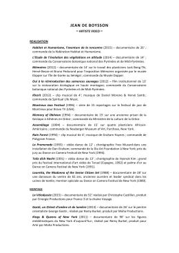 CV - Jean de Boysson