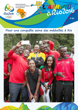 Bulletin d`informations RIO 2016 N°001