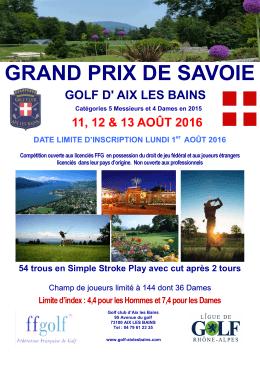 Affiche 2016 Grand Prix de Savoie