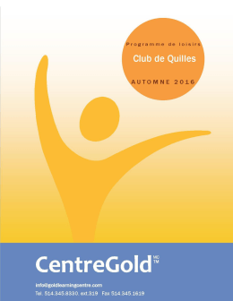 GLEE CLUB - Gold Centre