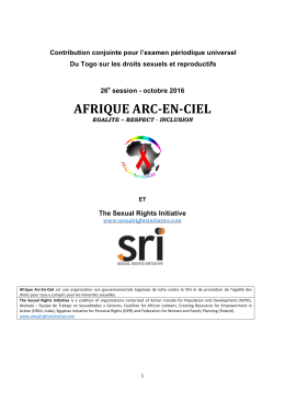afrique arc-en-ciel - Sexual Rights Initiative