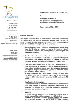 Note d`information - Pouldreuzic.bzh – le site de la mairie de