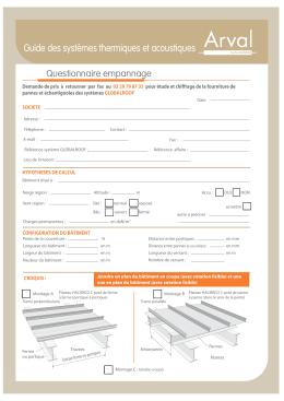 Questionnaire Empannage