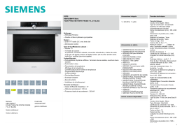 Siemens HB673GBW1F FOUR PYROLYSE PORTE FROIDE 71L A+