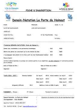 Denain-Natation La Porte du Hainaut