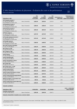 Evaluation des cours et des performances