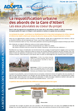 La requalification urbaine des abords de la Gare d`Albert
