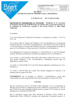 Résiliation de la convention dˇoccupation - Eservices