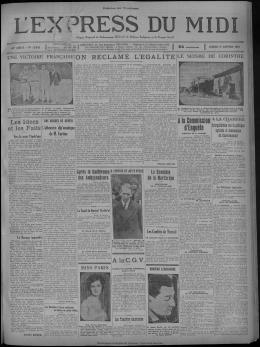 17 janvier 1931 - Presse régionale