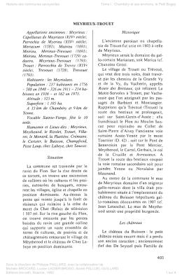 MEYRIEUX-TROUET dans l`Histoire des communes savoyardes