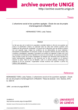 Thesis Reference - Archive ouverte UNIGE
