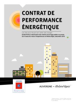 Contrat de performance énergétique : 10 fiches de retours d