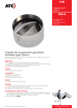 Clapets de surpression gainables femelles type OKA-A