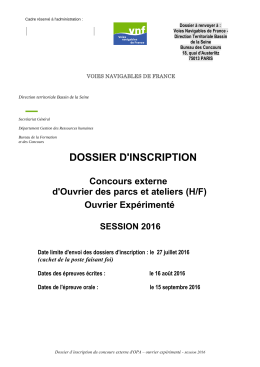 Dossier d`inscription OPA-OE 2016
