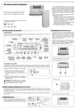 Kit thermostat/récepteur