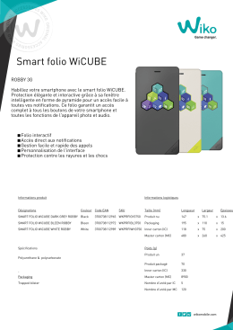 Smart folio WiCUBE