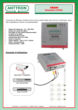 Modulateur COFDM Exemple d`utilisation