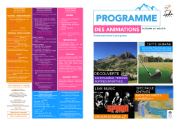 programme - Mairie Isola