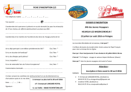 Un documents à télécharger pour l`inscription aux JMJ