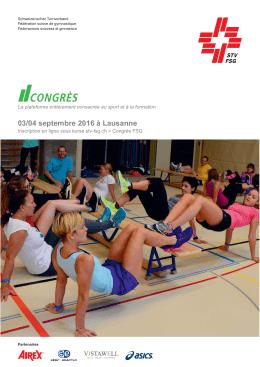 Programme du congrès FSG 2016