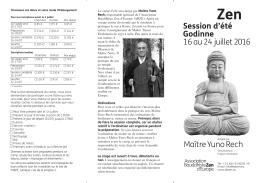 Session d`été Godinne 16 au 24 juillet 2016 Maître Yuno Rech