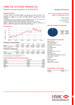 hsbc ee actions france (e) - HSBC Global Asset Management France