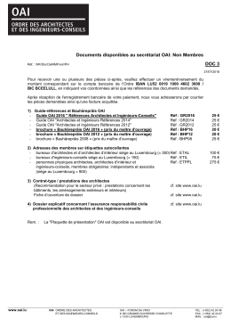 Liste des documents disponibles
