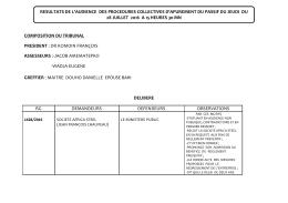 composition du tribunal president : dr komoin françois assesseurs