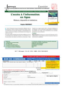 L`accès à l`information en ligne. Moteurs dispositifs et médiations