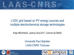 LVDC grid based on PV energy sources and multiple