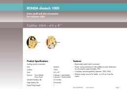 RONDA slimtech 1000 Caliber 1064 – 6¾ x 8