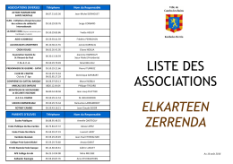 Liste des associations - Cambo-les