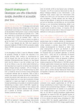 Objectif stratégique 8 : Développer une offre d`électricité durable