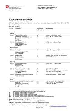 Laboratoires autorisés