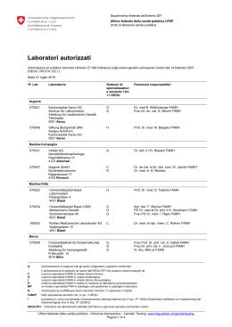 Laboratori autorizzati - analisi genetici
