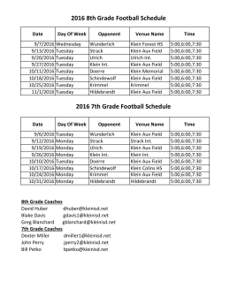 2016 8th Grade Football Schedule 2016 7th Grade