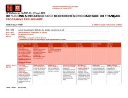 Programme du colloque - Colloque AIRDF Montréal 2016