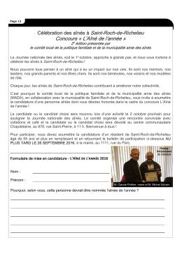 Concours L`Aìné de l`année.pub - Saint-Roch-de