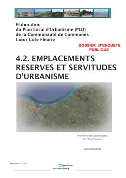 4.2. Emplacements réservés - Communauté de communes Coeur